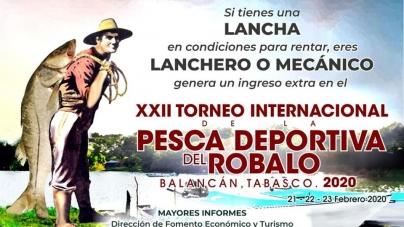 XXII Torneo Internacional de Pesca Deportiva de Robalo, Balancán, 2020