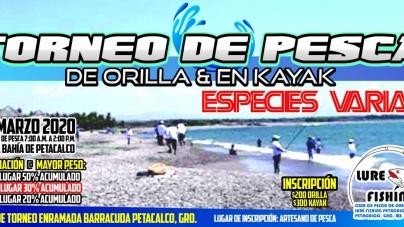 Torne de Pesca de Orilla y en Kayak Especies Varias Petacalco 2020
