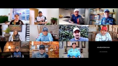 En México, las y los presentadores de tv de pesca, decimos: #QuédateEnCasa