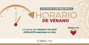En México, el domingo 5 de abril cambia al Horario de Verano 2020