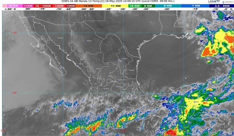 Temperaturas muy calurosas mayores a 35 °C en 28 entidades de México; lluvias en centro, sur y sureste