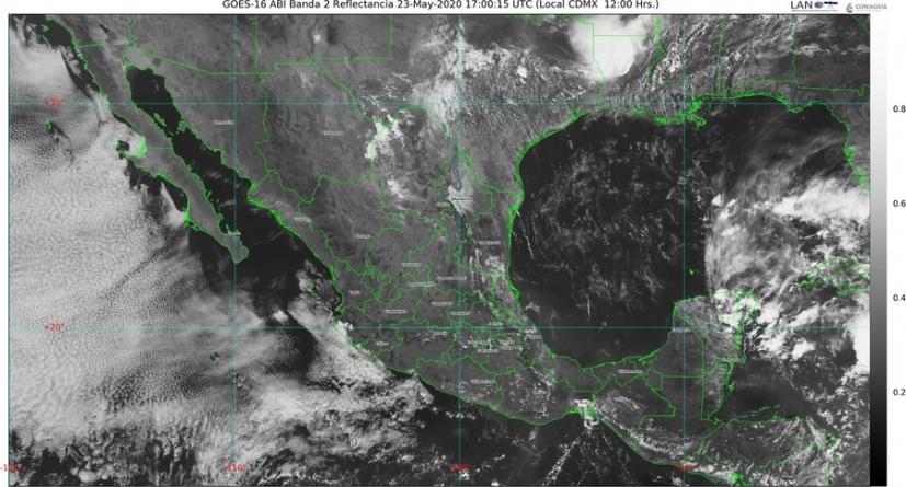 Temperaturas superiores a 40 grados Celsius en 12 entidades del país; posibles tornados en el norte