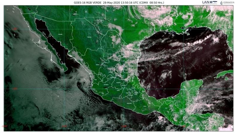 Zona de baja presión en el Océano Pacífico, con 40 % de potencial ciclónico; lluvias en el noreste de México