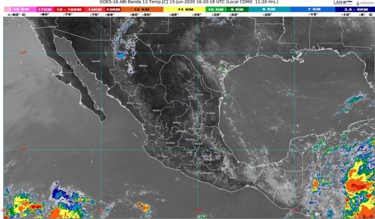 La Onda Tropical 4 y dos canales de baja presión causarán lluvias en buena parte de México