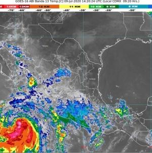 La tormenta tropical Cristina provoca lluvias muy fuertes en Colima, Jalisco y Sinaloa, y Baja California Sur