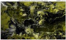 Lluvias intensas en Chiapas y Oaxaca, y muy fuertes en Campeche, Tabasco, Veracruz y Yucatán; 45 °C en el norte y la península de BC