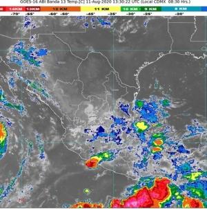 Lluvias intensas en Chiapas, Colima, Guerrero, Jalisco, Nayarit, Oaxaca y Veracruz; Elida ocasiona lluvias y oleaje de 2 m en BCS