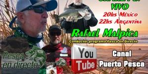 En Puerto Pesca de Argentina, Rafael Malpica en entrevista en vivo este martes 20:00 horas tiempo del centro de México