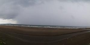 Lluvia intensa en Coatzacoalcos, Veracruz, este día