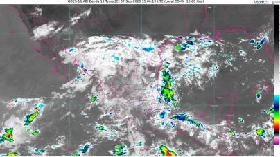 Lluvias intensas para Chiapas, Guerrero y Oaxaca; vientos con rachas de 60 a 70 km/h, en BC, Chihuahua, Coahuila y Sonora, y Mar de Cortés