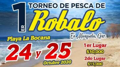 I Torneo de Pesca de Robalo en Playa La Bocana, Marquelia, Guerrero