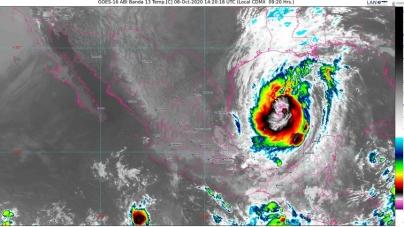 Lluvias muy fuertes para Chiapas y Tabasco, y fuertes para Tamaulipas y la Península de Yucatán